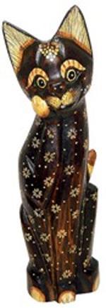 Фигурка Кошка с лапкой у мордочки 40см