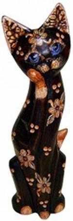 Фигурка Кошка с лапой у мордочки 50см