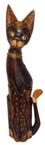 Статуэтка 'Котик Диего в ошейнике' 80см.