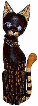 Фигурка Кот в ошейнике 35см.
