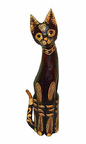 Статуэтка леопардовый Кот хвост трубой 60см