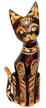 Статуэтка леопардовый Кот хвост трубой 35см.