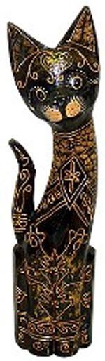 Статуэтка с золотым орнаментом 'Кот Оливер 40см.
