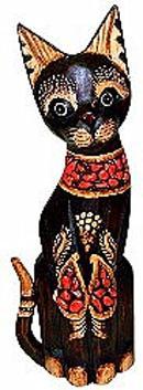 Статуэтка 'Кот в красном ошейнике' 50см.