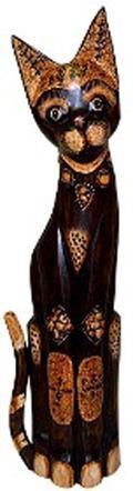 Статуэтка 'Кот хвост трубой в ошейнике' 60см.