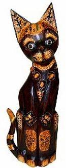 Фигурка Кот хвост трубой в ошейнике 30см.