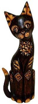 Статуэтка 'Кот хвост трубой солнечный' 50см