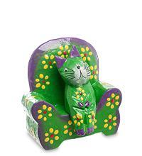Статуэтка КОШКА в кресле, цвет-зеленый