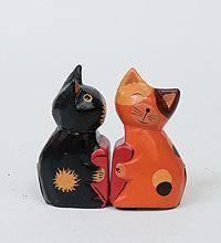 Статуэтка mini КОТ и КОШКА поцелуй, набор 2 шт