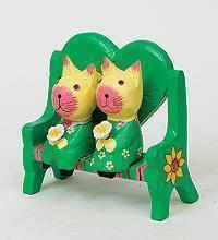 Статуэтка mini КОТ и КОШКА на диване-сердце
