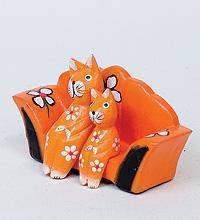 Статуэтка mini КОШКИ на диване разные цвета