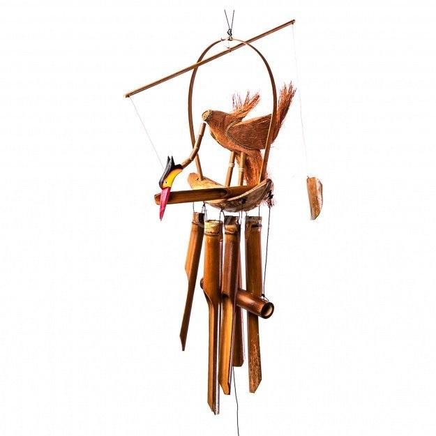 Музыка ветра с фигуркой Аист 30см