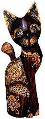 Деревянная статуэтка 'Кот Джекоч' 40см.