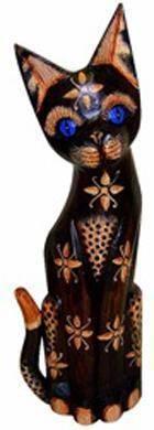 Статуэтка 'Голубоглазый кот Клиф' 50см.