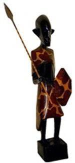 Деревянная статуэтка 'Воин абориген Массаи' 25см