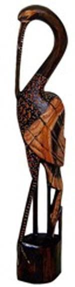 'Цапля - фигура из дерева 60cм.