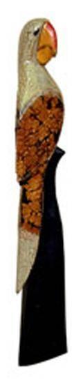 Статуэтка резная Попугай Макао 50см.