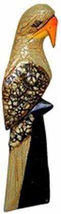 Деревянная статуэтка Попугай Макао 25см.