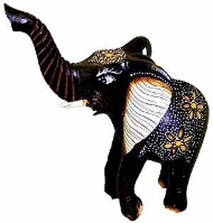Интерьерная статуэтка слона 28х24см.