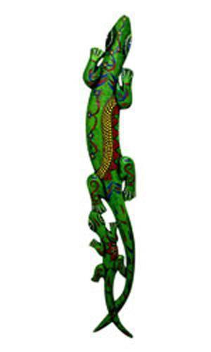 Панно настенное Два геккона 100см из дерева Альбиция