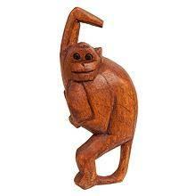 """Фигурка из дерева подвесная """"Обезьяна"""" 15 см"""