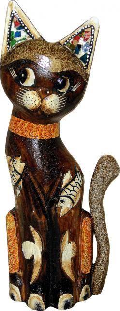Сувенир из дерева 'Кот Леденец' 30см.