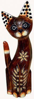 Деревянная фигурка 'Кошка изящная' 25см.