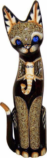 Фигурка-сувенир 'Кот со слоном' 40см.