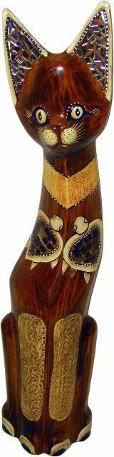 Статуэтка для декора 'Кошка Аляска' 100см.