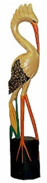 Фигурка птицы из дерева 'Аист' 100cм.