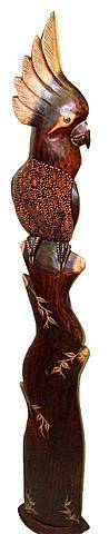 Интерьерная статуэтка 'Попугай Белохохлый' 120cм.