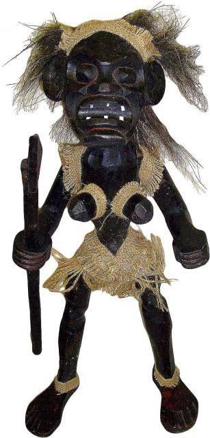 """Статуэтка аборигена племя Асмат """"Воин"""" 100см."""
