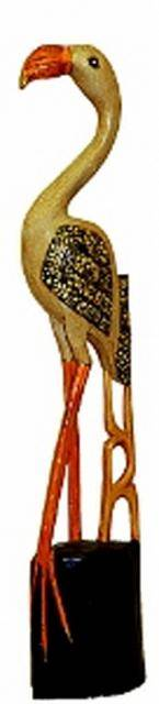 Резная фигурка птицы 'Фламинго' 80cм.