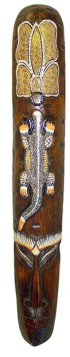 Маска черепаха и геккон 100см.
