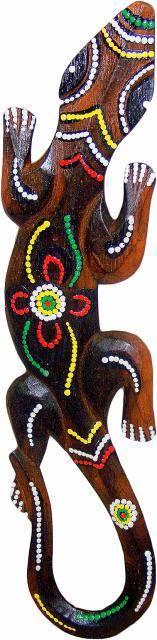 Панно декоративное Тропическая ящерица 50см.