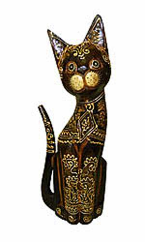 Деревянная фигурка кот Митька 35см.