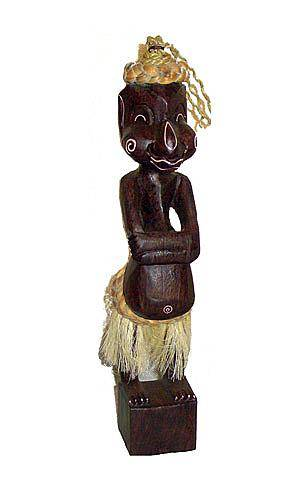 """Фигурка аборигена """"Девушка в юбке"""" 33 см из дерева Альбиция"""