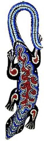 Панно для декора 'Саламандра', 100см