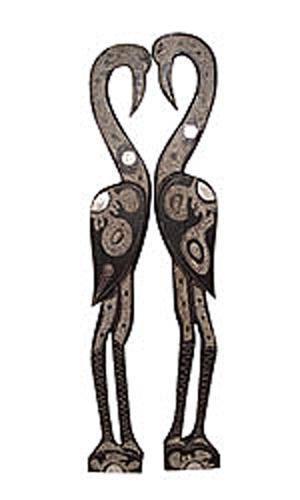 Набор из двух панно изображающих птиц Фламинго, 100см.