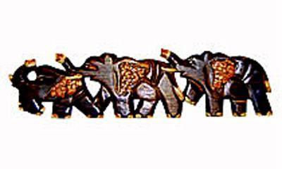 Настенное панно 'Три Слона' 50см