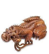 """Сувенир из дерева """"Дракон"""" 30 см"""