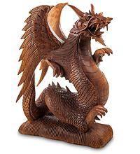 "фигура из дерева ""Дракон"" 50 см"