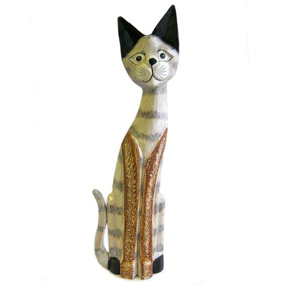 """Фигурка из дерева """"Кошка Молли """" 60см"""