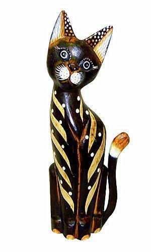 """Сувенир из дерева """"Кот Лиходей"""" 60см."""
