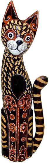 Статуэтка 'Кот в цветах' 80см.