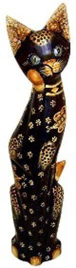Статуэтка 'Кошка Ириска с бабочкой' 80см.