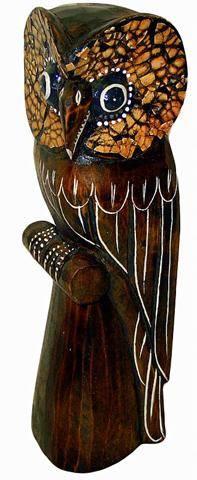 Деревянная фигура 'Сова' 25см.