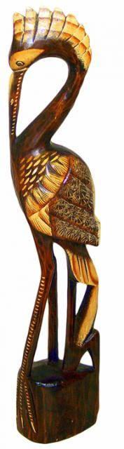 Статуэтка птицы из дерева 'Аист' 100cм.