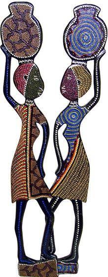 Панно африканки, 100см. (2 шт)