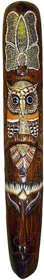 Маска 100см. , авторская резьба,  бабочка и сова